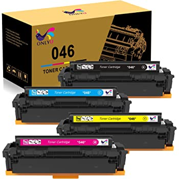 ONLYU Compatible Toner Cartridge Replacement for Canon 046 046H for Color ImageCLASS MF735Cdw LBP654Cdw MF731Cdw MF733Cdw Laser Printer (4 Pack)