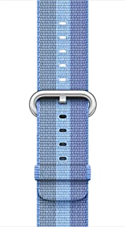 Ozone Replacement Woven Nylon Apple Watch Strap Band for 38mm - Tahoe Blue