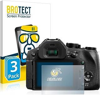 BROTECT Protector Pantalla Cristal Compatible con Panasonic Lumix DMC-FZ300 Protector Pantalla Vidrio (3 Unidades) Dureza 9H AirGlass