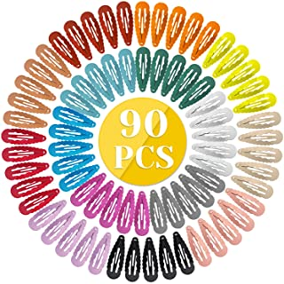 Anezus 90 Pcs Hair Clips Hair Barrettes Snap Clips Non-Slip Hair Barrettes for Hair Accessories