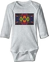 WSAAXD Trippy Acid Wallpaper Hd Pics Widescreen Trip Desktop for Long Sleeve Bodysuit Gray