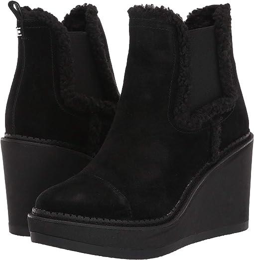 Black Velutto Suede Leather/Faux Fur