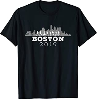 Boston 2019 Skyline Marathon Shirt - Tshirt - Slate
