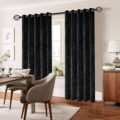 Black Velvet Curtains: Amazon.co.uk