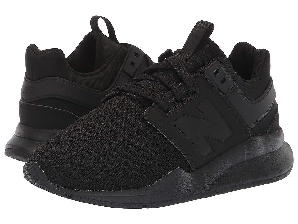 New Balance Kids KL247v2P (Little Kid) (Black/Black) Boys Shoes