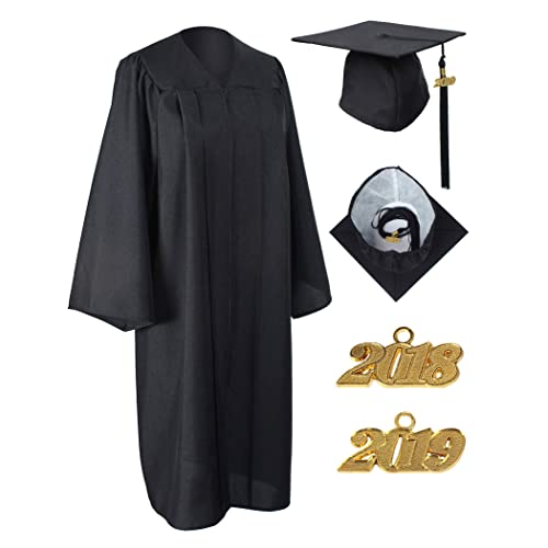 fe05ab2dc0 MyGradDay Unisex Matte Graduation Gown Cap Tassel 2018 and 2019 Year Charms