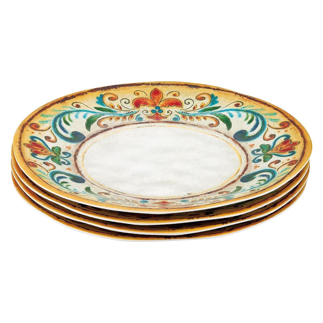 Gourmet Art 4-Piece Tuscany Melamine 11-inch Dinner Plate