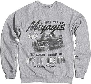 Karate Kid Officially Licensed Miyagi's Super Defence Waxing Sweatshirt (Heather-Grey)