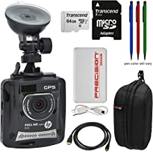 HP f310 1080p HD GPS G-Force Car Dashboard Video Recorder Camera with 64GB Card + Case + Power Pack + HDMI Cable + (3) Stylus Pens Kit