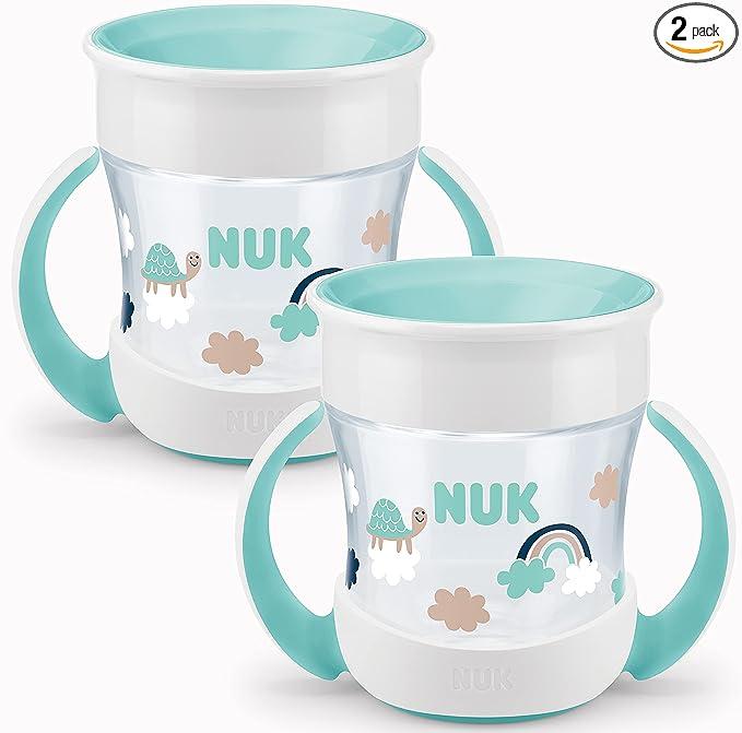 7889 opinioni per Nuk Mini Magic Cup Bicchiere salvagoccia, Multicolore (Bianco/Verde Menta), 160