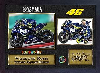 S&E DESING New Valentino Rossi Photo Signed Autograph Print Moto GP Framed.