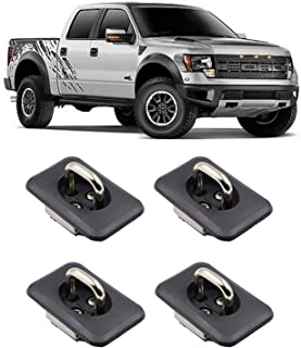 AEagle Top Bed Wall Tie Down Anchors, Retractable Hook Rings for 1997-2016 Ford F150 F250 F350 Super Duty (4 Pcs)