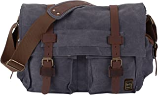 "Berchirly Vintage Military Men Canvas Messenger Bag For 13.3-17""Laptop"