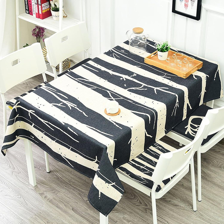 WYZ Mantel de Cocina Mantel de Lino, Simple Anti-Caliente Rectángulo Mantel de Mesa de café Mantel más Grueso del Restaurante (Color   2 , Tamao   140  200CM)
