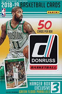 2018 2019 Donruss NBA Basketball Hanger Box of 50 Cards with EXCLUSIVE  Green Flood Parallels Found 994d18a70