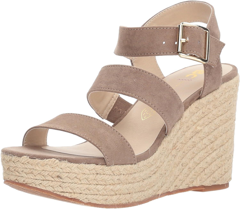 BC Footwear Womens Snack Bar Wedge Sandal