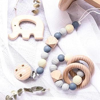 Mamimami Home 2PC del bebé mordedores de madera Caja de juguetes ...