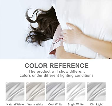 Hansleep Satin Pillowcase Set of 4 Silky Soft Pillowcase for Hair and Skin, Wrinkle, Fade Resistant with Envelope Closure (Wh