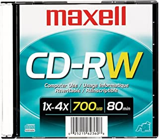 Maxell 630010 CD-RW, Surface, 700MB/80MIN, 4X