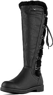 DREAM PAIRS Women's Knee High Combat Boots