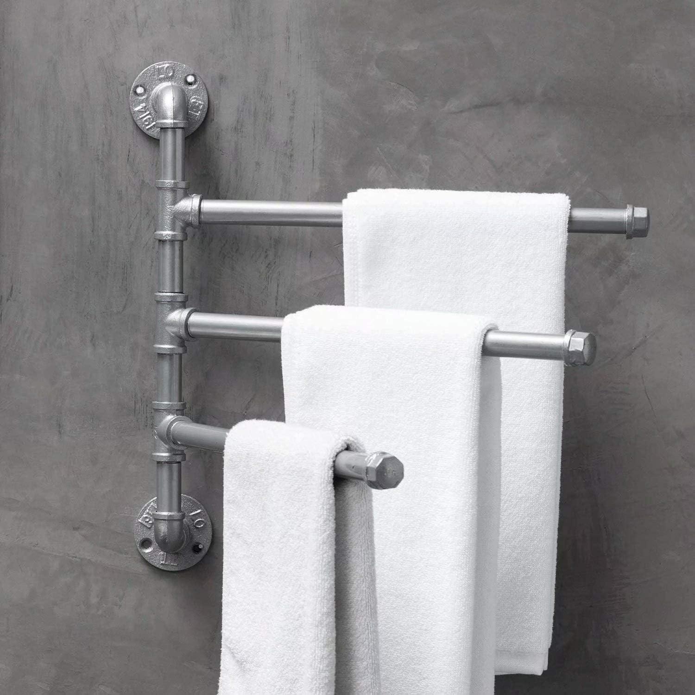 Vintage Industrie Rohr Handtuchstange Handtuchhalter Geschirrtuchhalter Haken f/ür Bad K/üche