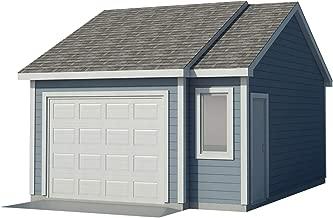 Car Garage Plans DIY Backyard Workshop Shed Building 16' x 22' Build Your Own