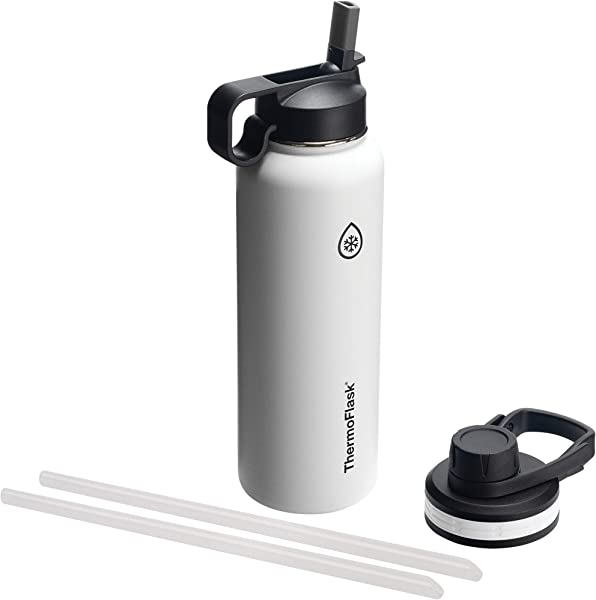 Thermoflask 50061 Double Stainless Steel Insulated Water Bottle 40 Oz White