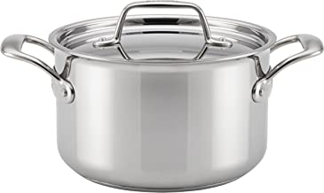 Breville Thermal Pro Stainless Steel Sauce Pan/Saucepan with Lid, 4 Quart, Silver