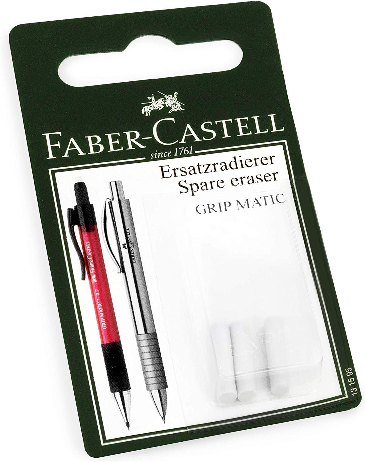 Faber-Castell Grip Matic Eraser Rubber White Blister - Refills 5 ☆ Portland Mall popular