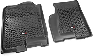 Rugged Ridge All-Terrain Black Front Row Floor Liner For Select Cadillac Escalade, Chevrolet Avalanche, Silverado, Suburban, Tahoe, GMC Sierra and Yukon Models