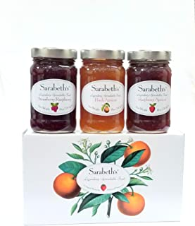 Sarabeth's Legendary Spreadable Fruit - 3 Jar Gift Pack - Peach Apricot, Raspberry Apricot,Strawberry Raspberry