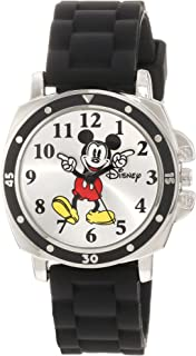 Disney Kids' MK1080 Mickey Mouse Watch with Black Rubber...