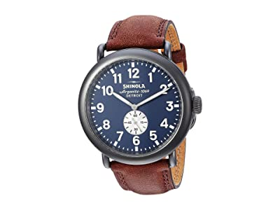 Shinola Detroit The Runwell 47mm S0120065287 (Gunmetal/Cattail Grizzly) Watches