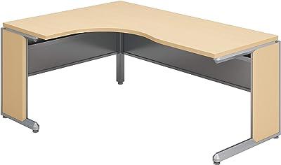 【配送・組立・設置込】 コクヨ オフィスデスク フレスコ SD-FRLL1612LP81P1MNN L型テーブル ショートリターン左 幅160×奥行120cm フラットシルバー/ライトナチュラル
