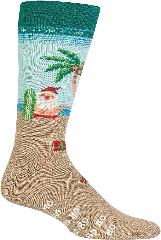Hot Sox Men's Surfing Santa Non Skid Socks