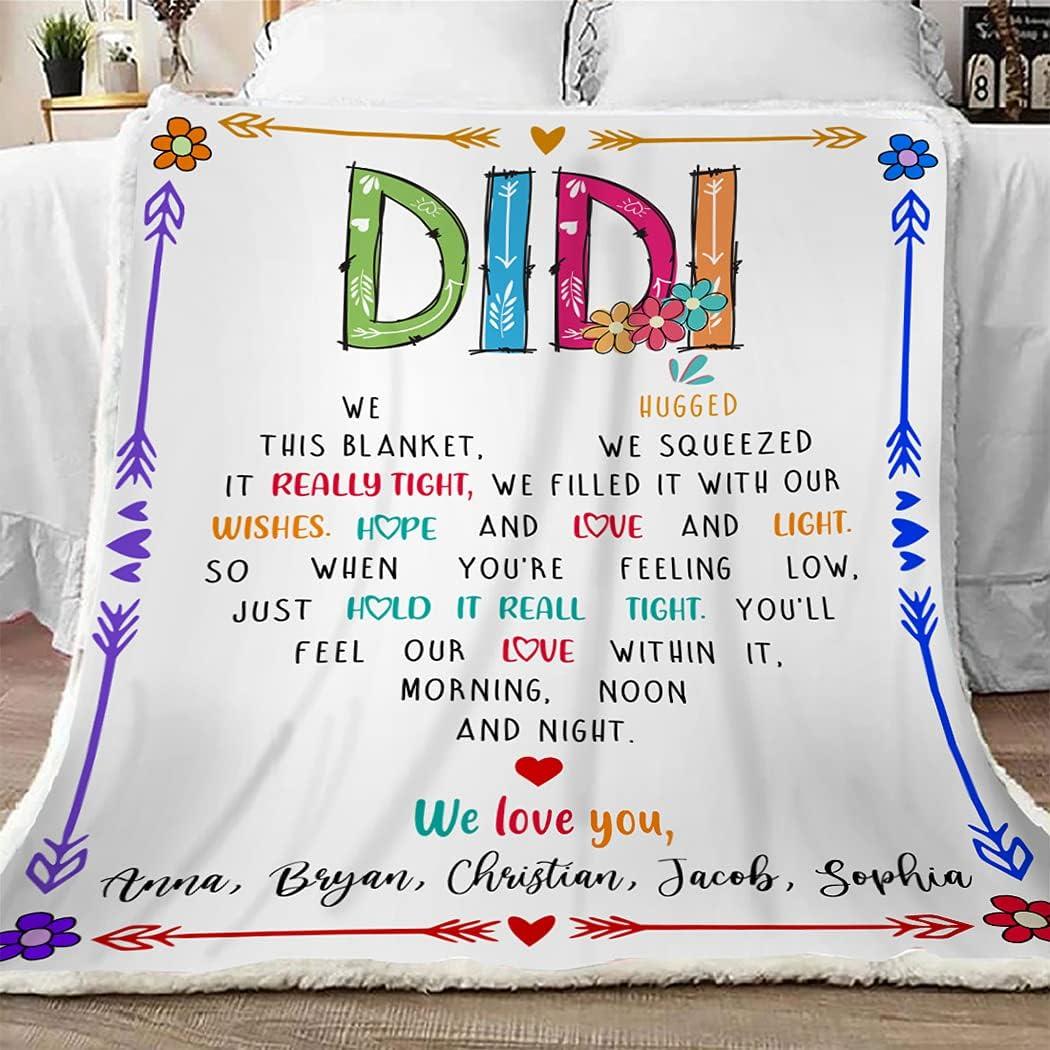 Didi Throw Blanket We Hugged This Funny Save money New life Grandma Gift