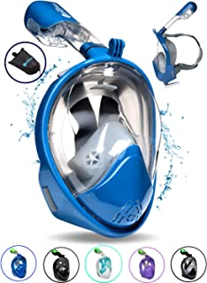 PRODIGY Full Face Snorkel Mask Adult Kids – 180° Panoramic Snorkeling Masks Gear for Adults and Youth - Easy Breathing SWIMTECH Dry Top Set, Anti-Leak&Anti-Fog