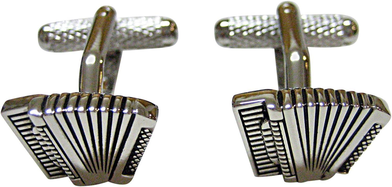 Kiola Designs Accordian Music Instrument Cufflinks
