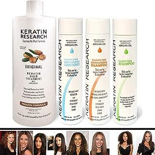 Complex Brazilian Keratin Hair Treatment 4 Bottles 1000ml Kit Includes Sulfate Free Queratina Keratina Brasilera Tratamiento