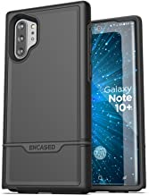 Encased Heavy Duty Galaxy Note 10 Plus Protective Case (2019 Rebel Armor) Military Grade Full Body Rugged Cover (Samsung Note 10+) Black