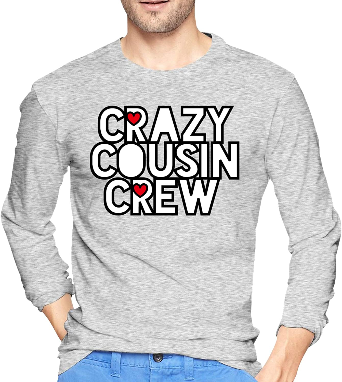 Crazy Cousin Crew1 Crewneck Shirt Ultra Soft Tee Long-Sleeve T-Shirts for Mans
