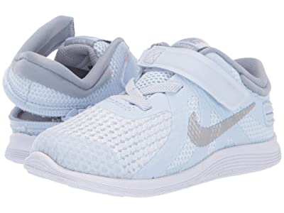 Nike Kids Revolution 4 FlyEase (Infant/Toddler) (Half Blue/Metallic Silver/Obsidian Mist) Kids Shoes