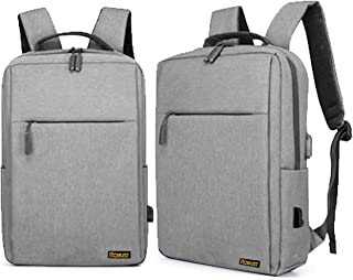 Robust Travel Laptop Backpack, Business Anti Theft Slim Durable Laptop Bag with USB Charging Port,Water Resistant College ...