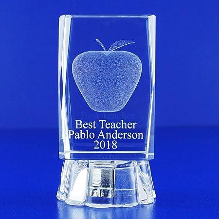 Personalised Engraved Jade Glass Iceberg Trophy Award Best Teacher Graduation