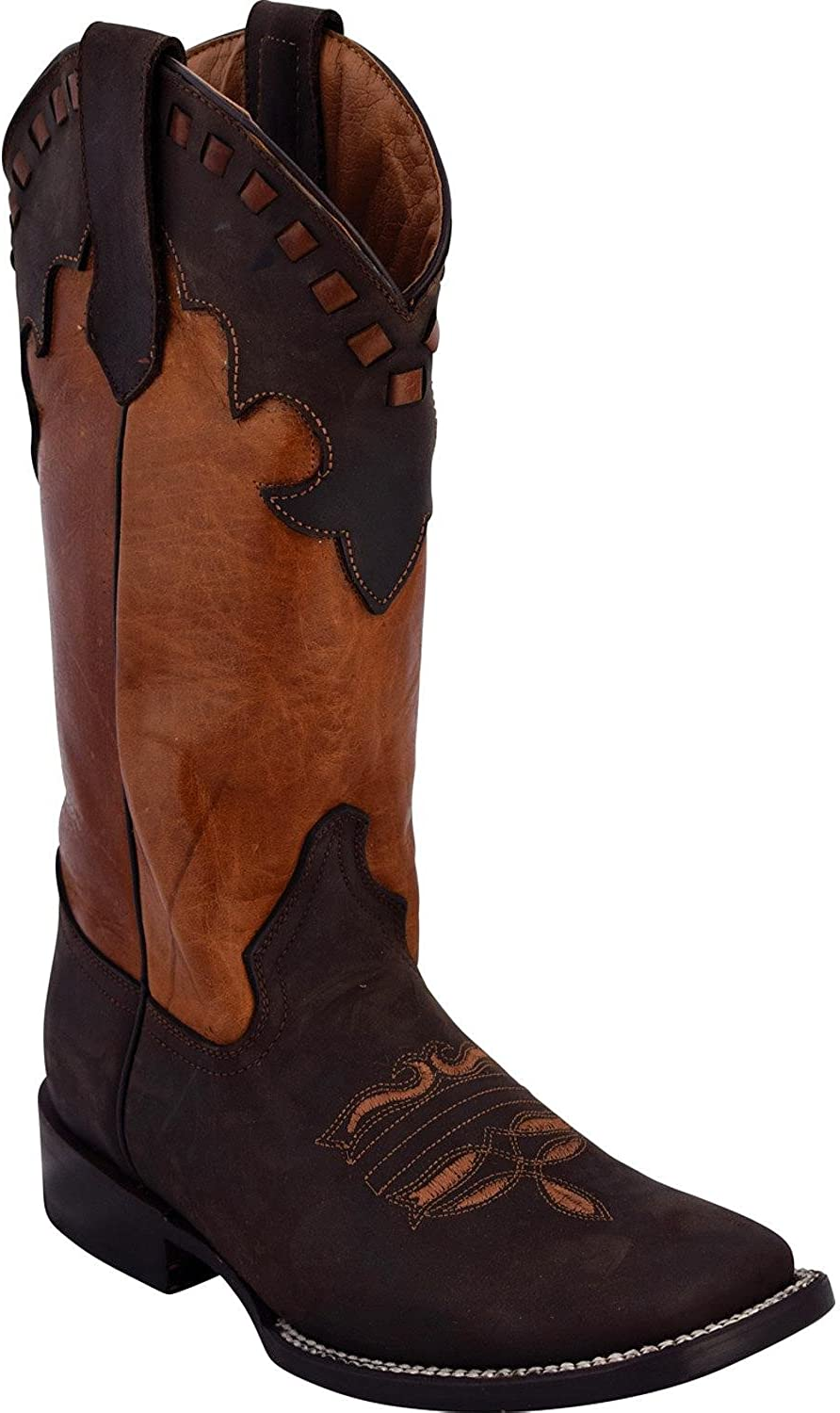 Ferrini Women's Old West Chocolate Cowgirl Boot Square Toe