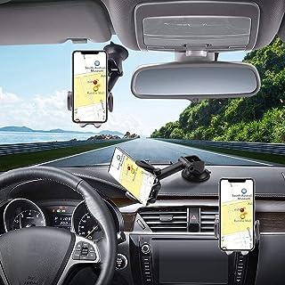 Hapfish Telefoonhouder Auto, 3 in 1 Universele Mobiele Telefoonhouder Auto voor Dashboard en Voorruit en Ventilatie, 360° ...