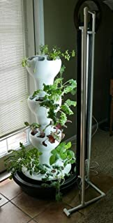T5 Twin Grow Light System - Two 4 ft Fluorescent Lights - Provides Optimum Growing Light for Tower Vertical Garden Structures