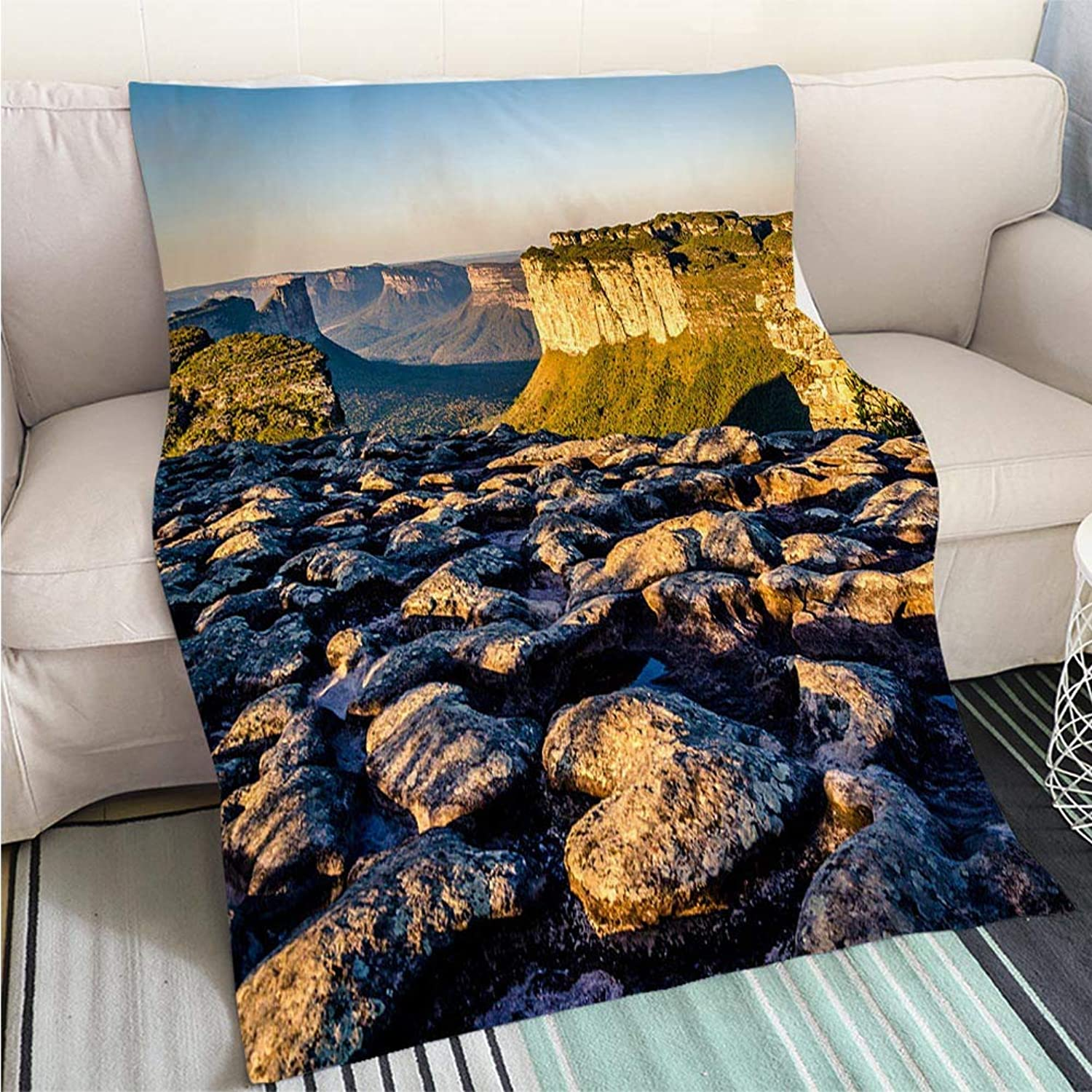 BEICICI Comforter Multicolor Bed or Couch Mountain Landscape Chapada Diamantina Bahia Brazil Sofa Bed or Bed 3D Printing Cool Quilt