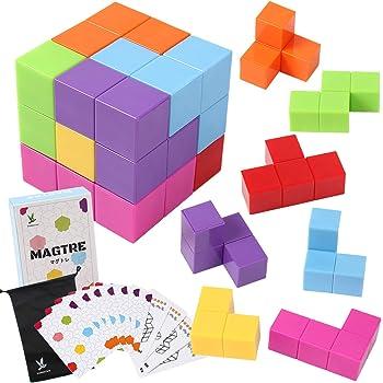 MAGTRE マグネットブロック 立体パズル マルチカラー