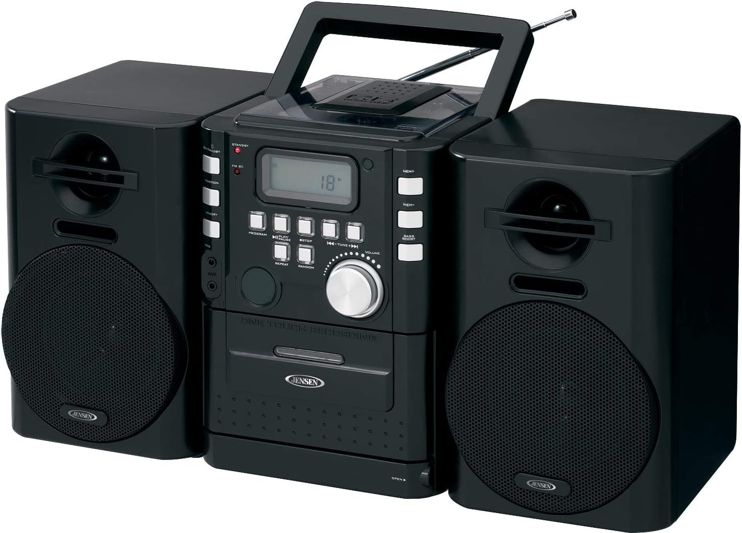 Jensen CD-725 San Francisco Mall Portable CD Music System Cassette with and Ster FM Import